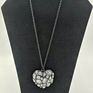 Jewelry - Crystal Gem Heart Pendant Necklace